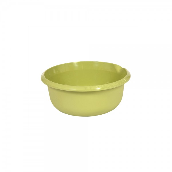 Миска круглая 1,5л с отливом зеленая 1