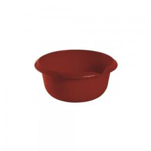 Миска круглая 1,5л с отливом бордовая