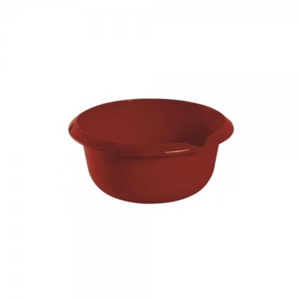 Миска круглая 1,5л с отливом бордовая 1