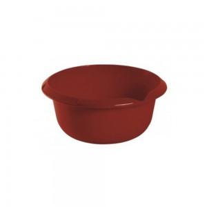 Миска круглая 2,5л с отливом бордовая