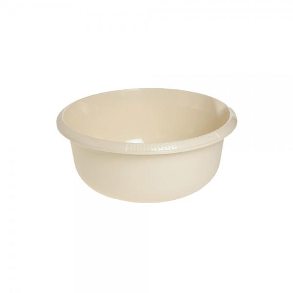 Миска круглая 2,5л с отливом крем 1
