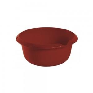Миска круглая 3,5л с отливом бордовая