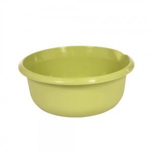 Миска круглая 9л с отливом зеленая