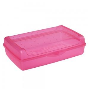 Контейнер для завтрака Click-Box 3,7л розовый