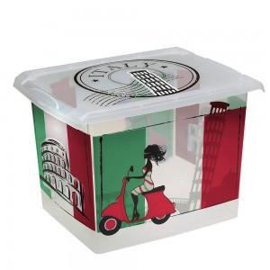 """Ящик для хранения """"ITALY"""" 20,5л с крышкой"""
