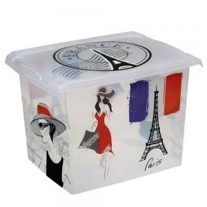 """Ящик для хранения """"France"""" 20,5л с крышкой"""