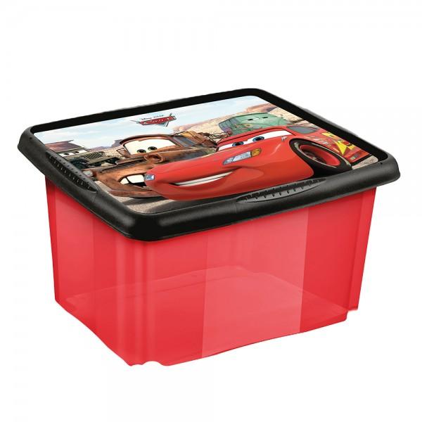 Ящик для хранения прозрачный CARS 24л 1