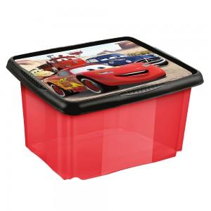 Ящик для хранения прозрачный CARS 45л