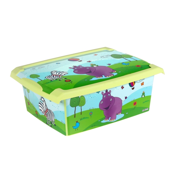 Ящик для хранения Hippo 10л с крышкой 1