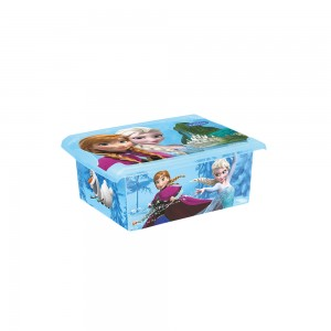 Ящик для хранения прозрачный Frozen blue 10л