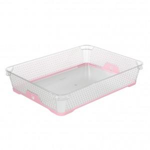 Ящик для хранения mini funcion А-4 розовый