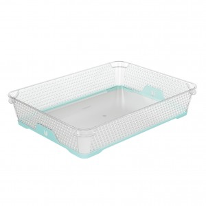 Ящик для хранения mini funcion А-4 аквамарин
