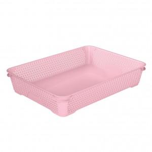 Ящик для хранения mini basket А-4 розовый
