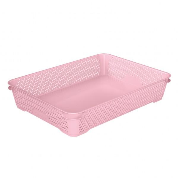 Ящик для хранения mini basket А-4 розовый 1