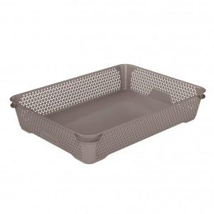 Ящик для хранения mini basket А-4 серо-коричневый