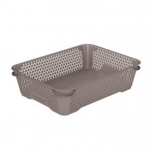 Ящик для хранения mini basket А-5 серо-коричневый